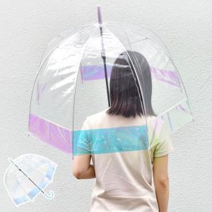 【カラーがアクセントのドーム型ビニ傘】 65cmの手開きビニール傘です。 女性らしくておしゃれな深張...