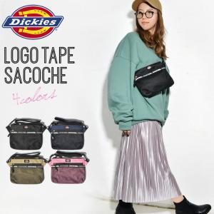 サコッシュ Dickies ディッキーズ レディース メンズ ショルダーバッグ ロゴ 黒 クラッチバッグ 斜めがけ メッシュ ミニショルダー