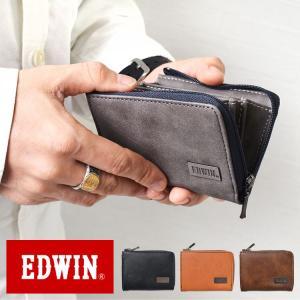 82e45dd56037 小銭入れ 財布 メンズ ウォレット コインケース EDWIN エドウィン 22239071 L字ファスナー カード 箱なし ブランド レザー PU