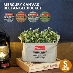 人気のマーキュリーシリーズよりキャンバス生地のレクタングルボックス(Sサイズ)が入荷!  植物を入れ...