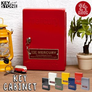 キーボックス おしゃれ MERCURY マーキュリー キーキャビネット 壁掛け 屋外 室内 鍵付き KEYSTONE キーストーン 鍵 入れ 収納