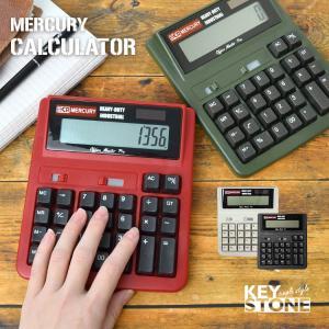 電卓 おしゃれ かわいい 12桁 大きい マーキュリー MERCURY カリキュレーター 計算機 1...