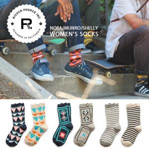 ソックス RICHER POORER リッチャープアラー 靴下 レディース ウィメンズ ボーダー ドット カラフル メンズ レディース|hauhau