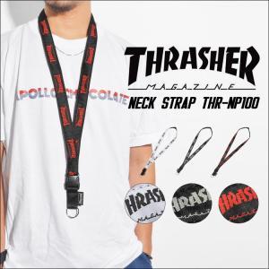 ネックストラップ THRASHER スラッシャー THRNP-100 ストラップ スポーツ スケーター ストリート メンズ レディース キッズ 流行|hauhau