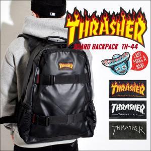 リュック THRASHER スラッシャー THRPN-7900 メンズ レディース リュックサック バックパック デカリュック 大容量 黒 ブラック|hauhau