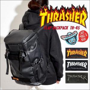 リュック THRASHER スラッシャー THRPN-8900 メンズ レディース リュックサック バックパック デカリュック 大容量 黒 ブラック|hauhau
