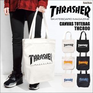 トートバッグ キャンバス THRASHER スラッシャー THC-800 メンズ レディース キッズ トート 手提げ 通学 通勤 大容量 大きめ|hauhau