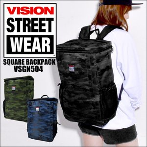 リュック VISION STREET WEAR ヴィジョン ストリート VSGN-504 リュックサック バックパック メンズ レディース 大容量 通学|hauhau