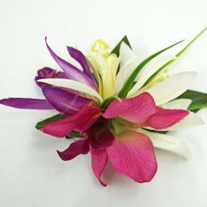 ハワイアン ハワイ 雑貨 ハワイアン雑貨 髪飾り 花 ハワイアン ヘアーアクセサリー クリップ プルメリア ピンク 3輪|hawaiian