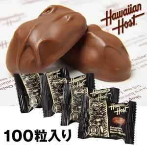 ハワイお土産 マカデミアナッツチョコレートTIKI 100袋詰|ハワイアンホースト公式店