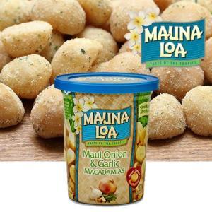 ハワイお土産 マウナロア マウイオニオン&ガーリックマカデミアナッツ缶 127g|ハワイアンホースト|hawaiianhost