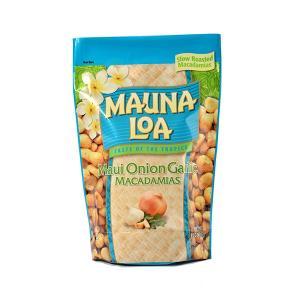 ハワイお土産 マウナロア マウイオニオン&ガーリックマカデミアナッツ Lサイズ 311g|ハワイアンホースト|hawaiianhost