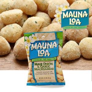 ハワイお土産 マウナロア マウイオニオン&ガーリックマカデミアナッツ Sサイズ 32g|ハワイアンホースト|hawaiianhost