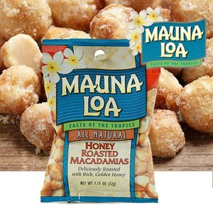 ハワイお土産 マウナロア ハニーローストマカデミアナッツ Sサイズ 32g|ハワイアンホースト|hawaiianhost