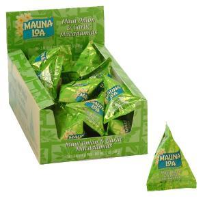 ハワイお土産 マウナロア マウイオニオン&ガーリック マカデミアナッツ ミニパック (24袋)|ハワイアンホースト|hawaiianhost