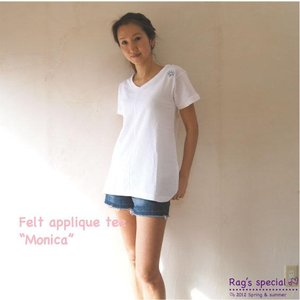 【Rag Pantry】★122004 Felt applique tunic[Monica]【ラグパントリー】|hawaiilani-shop