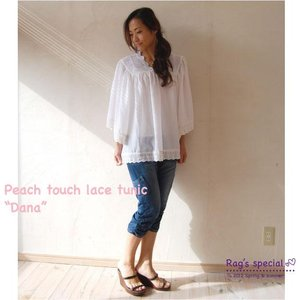 【Rag Pantry】★123003 peach touch lace tunic[Dana]ラグパントリー|hawaiilani-shop