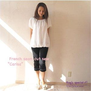 【Rag Pantry】★123006 French seam cut sew【Carisa】ラグパントリー|hawaiilani-shop