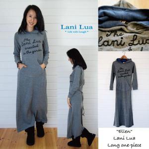 【Lani Lua】★130101★ コットン&アクリルニット素材/ ロングワンピース ★Ellen★/ラニルア|hawaiilani-shop
