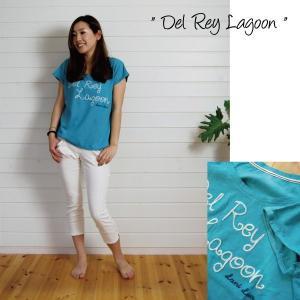 【Lani Lua】★142017★ コットン素材/ 刺繍TEE ★Del Rey Lagoon★ 【ラニルア】|hawaiilani-shop