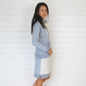 【Rag Shop】★150102★ 軽くて暖かい起毛素材がベース/カジュアルな切り替えスカート ★Melanie★ 【ラグショップ】|hawaiilani-shop