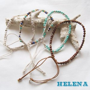【Helena】★20140101a★【ヘレナ】天然石のアンクレット / 素敵な天然石で作ったアンクレット♪|hawaiilani-shop