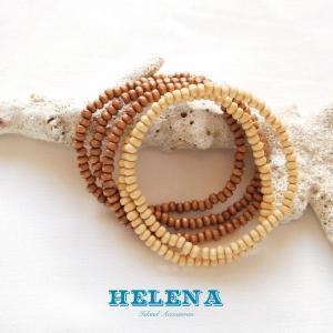 【Helena】★20140106b★【ヘレナ】天然木のブレスレット / 素敵な天然木で作ったブレスレット♪|hawaiilani-shop