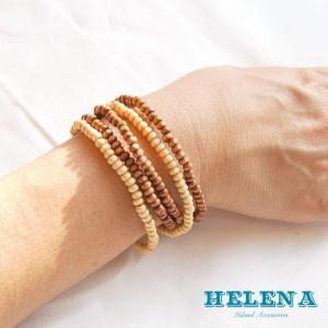 【Helena】★20140106b★【ヘレナ】天然木のブレスレット / 素敵な天然木で作ったブレスレット♪|hawaiilani-shop|05