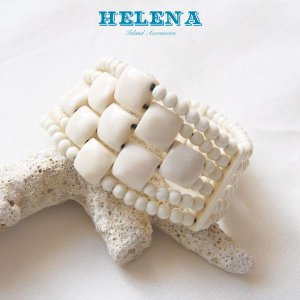【Helena】★20140108b★【ヘレナ】ボーンブレスレット / 素敵なボーンブレス♪|hawaiilani-shop
