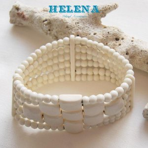 【Helena】★20140108b★【ヘレナ】ボーンブレスレット / 素敵なボーンブレス♪|hawaiilani-shop|03