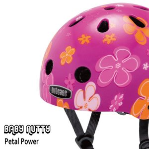 送料無料 子供用 ヘルメット 子供用自転車ヘルメット ナットケース Nutcase/ ★Baby Natty-Petal Power★/ペタル・パワ−/