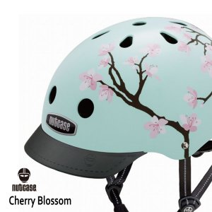 自転車用ヘルメット 子供用 大人迄 ナットケースーNutcase / ★Cherry Brossom★/チェリー・ブラッサム/