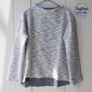【Rag Shop】★E-309619-2★ Pacific Knit /ちょっと変わったニット素材・シンプルなカットソー ★Minnie★ 【ラグショップ】|hawaiilani-shop