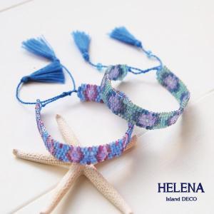 【Helena】★HELE-1504★【ヘレナ】ビーズのブレスレット / 幾何学模様のビーズブレスレット♪|hawaiilani-shop