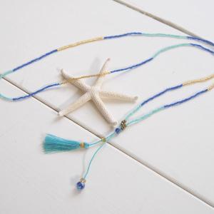 【Helena】★HELE-1509-Blue★【ヘレナ】ビーズのネックレス / 素敵なブレスレットが届きました♪|hawaiilani-shop