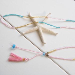 【Helena】★HELE-1509-Pink★【ヘレナ】ビーズのネックレス / 素敵なブレスレットが届きました♪|hawaiilani-shop