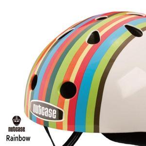 自転車用ヘルメット 子供用 大人迄 ナットケースーNutcase/ ★Rainbow Stripe★/レインボー・ストライプ/ 世界基準の安心ヘルメット|hawaiilani-shop