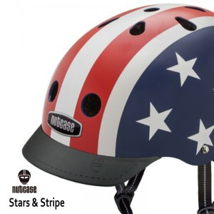送料無料 子供用 ヘルメット 子供用自転車ヘルメット ナットケース Nutcase/ ★Stars & Strips★/スターズ&ストライプス/