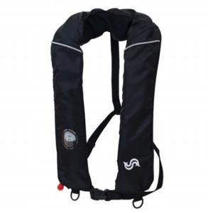 高階救命器具(タカシナ) 自動膨張式救命胴衣 BSJ‐2420 ブラック [定形外送料250円]|haya