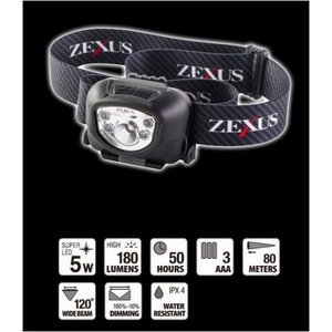 冨士灯器 ゼクサス(ZEXUS) LEDライト ZX-260BK [定形外送料250円対応]|haya