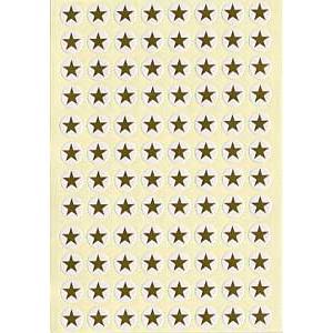 1袋576片入/96片x6枚 直径0.9cm  はがしやすい丸枠付き 小星 金シールです。