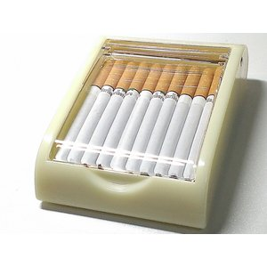 【卓上シガレットケース ベージュ×アクリル】  高級ホテルなどに置いていそうな卓上型のタバコケースで...