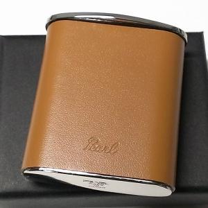 携帯灰皿 おしゃれ タスカ キャメル レザー 日本製 PEARL 牛本革 茶 国産 ブランド メンズ レディース プレゼント ギフト かわいい|hayamipro