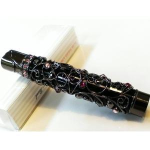 LUXE CANDY ラックスキャンディ 電子ガスライター LOVEメタル ブラック レディース スリムライター|hayamipro