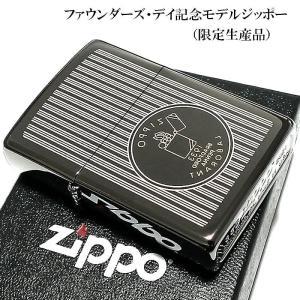 ZIPPO 限定 ジッポ ライター ジッポー・ファウンダーズ・デイ記念モデル ブラックアイス レーザ...