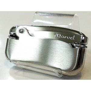 MARVEL マーベルオイルライター シルバーニッケルサテン 昭和レトロ 日本製 フリント式オイルライター hayamipro