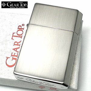 オイルライター ギアトップ 日本製 ライター ニッケルサテン シルバー シンプル 重厚 かっこいい おしゃれ GEAR TOP 国産品 メンズ ギフト|hayamipro