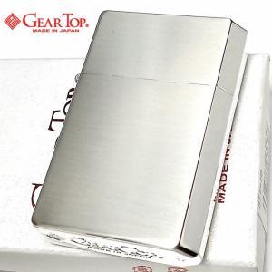 オイルライター ギアトップ 日本製 ライター シルバー10ミクロン 銀サテーナ GEAR TOP シンプル 重厚 かっこいい おしゃれ 国産品 メンズ ギフト|hayamipro
