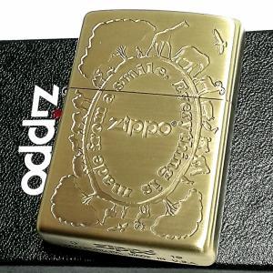 ZIPPO ライター サファリ ジッポ 可愛い 動物 おしゃれ ブラス アンティークゴールド 彫刻 メンズ レディース かわいい ギフト|hayamipro