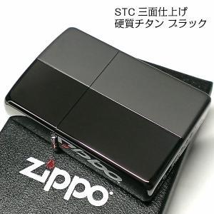 ZIPPO ライター おしゃれ 硬質チタン ジッポ かっこいい ブラック グレー 鏡面&艶消し 黒 両面 チタン加工 シンプル メンズ ギフト プレゼント|hayamipro